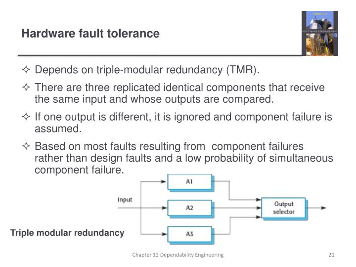 Depends on triple-modular redundancy (TMR).