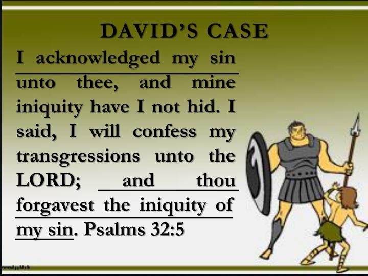 David's case
