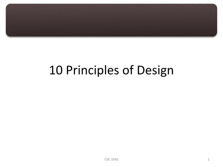 10 principles of design