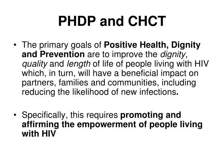 PHDP and CHCT