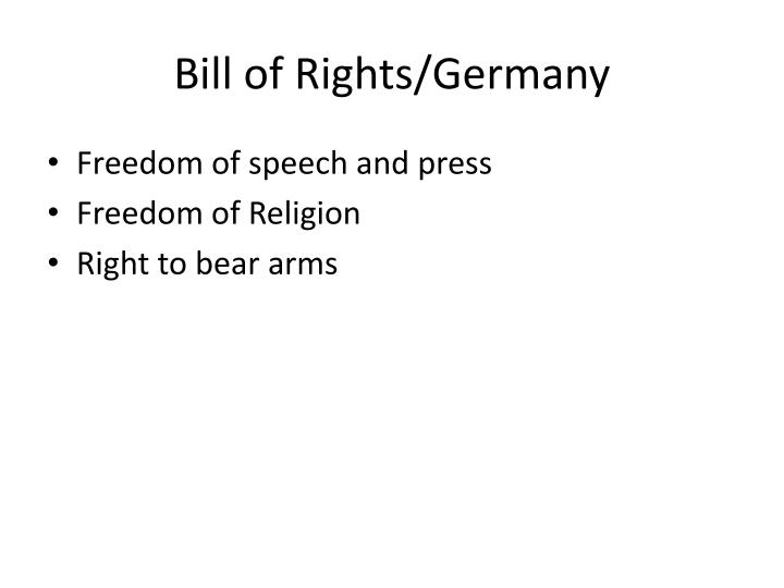 Bill of Rights/Germany