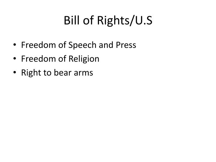 Bill of Rights/U.S
