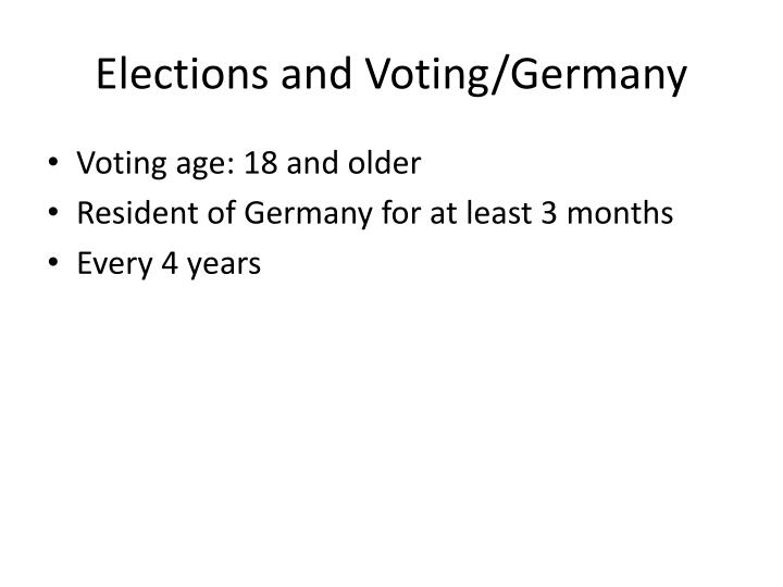 Elections and Voting/Germany