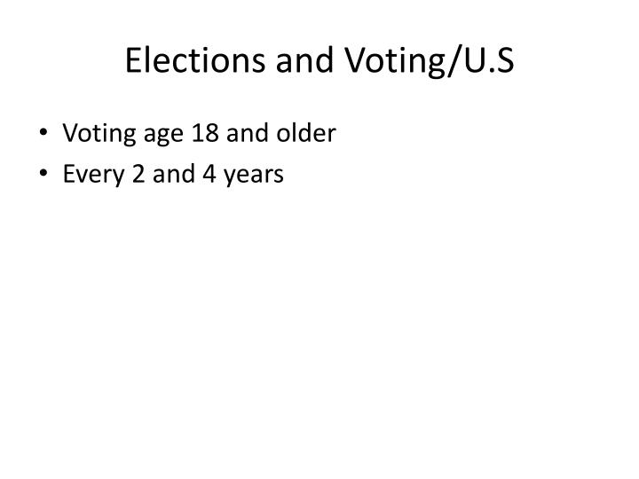 Elections and Voting/U.S