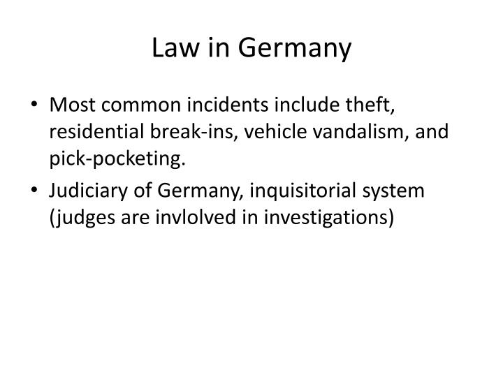 Law in Germany