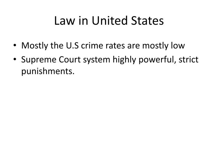 Law in United States