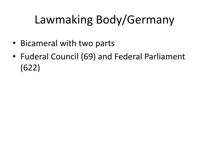 Lawmaking Body/Germany