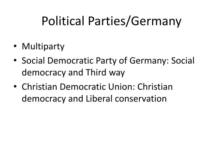 Political Parties/Germany