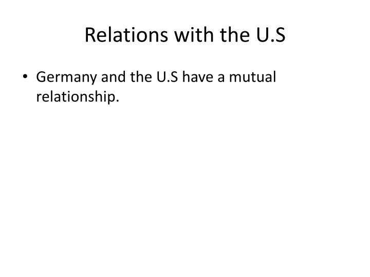 Relations with the U.S