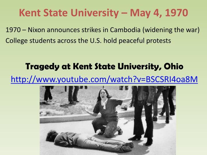 Kent State University – May 4, 1970