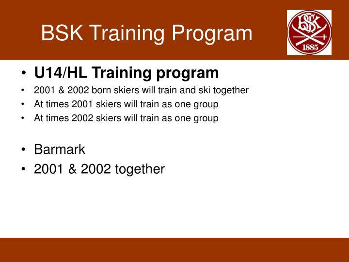 BSK Training Program