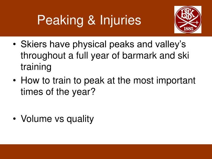 Peaking & Injuries