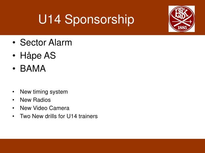 U14 Sponsorship