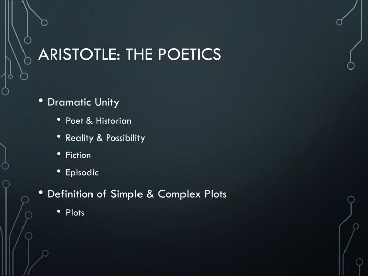 Aristotle: the poetics