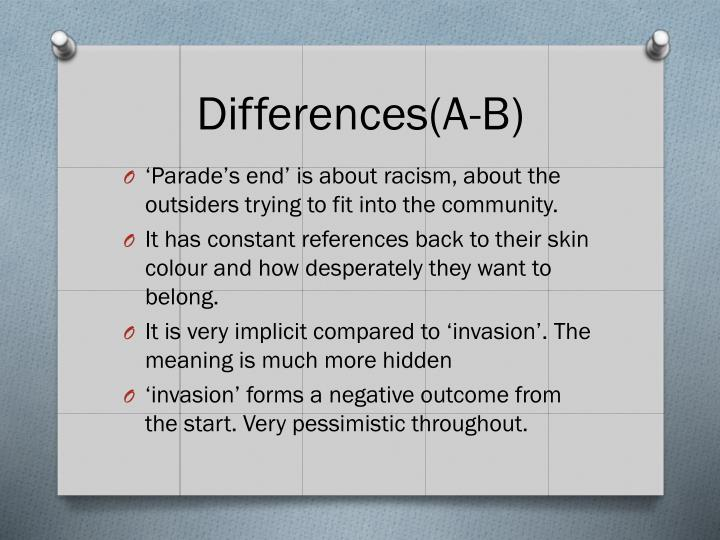 Differences(A-B)