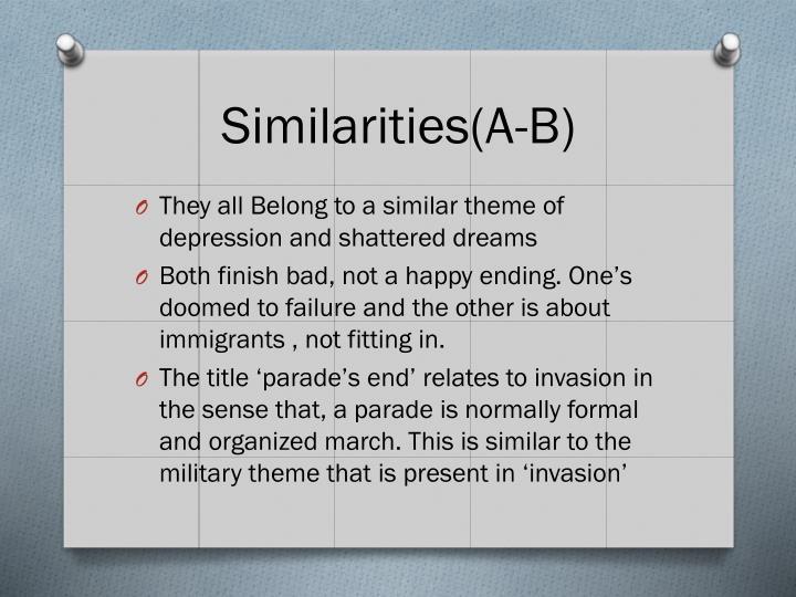 Similarities(A-B)
