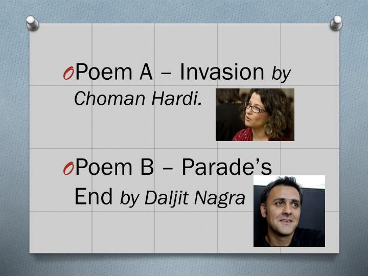 Poem A – Invasion