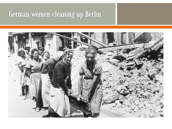 German women cleaning up Berlin