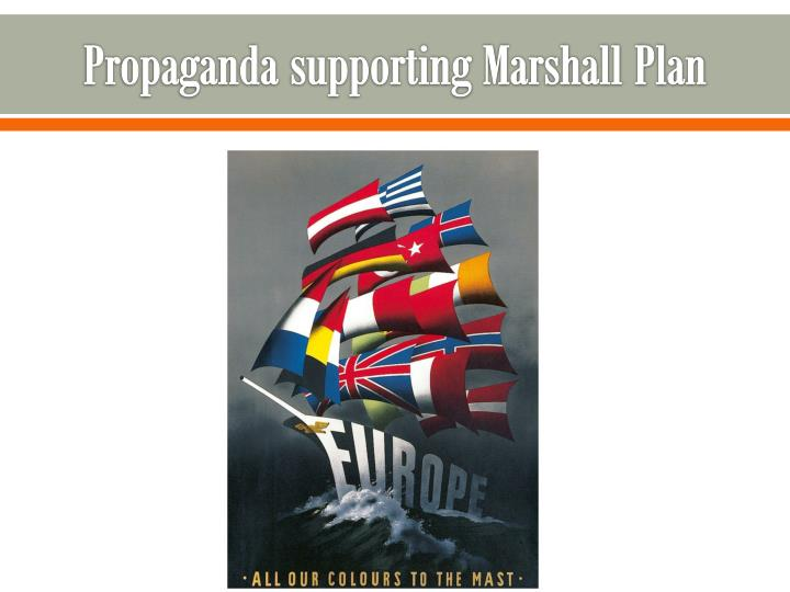 Propaganda supporting Marshall Plan
