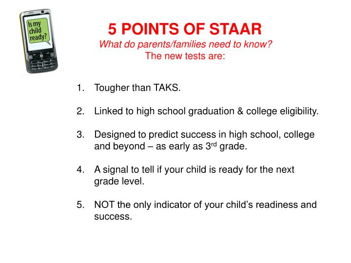 5 POINTS OF STAAR