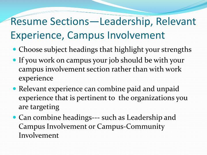ppt - resume preparation powerpoint presentation