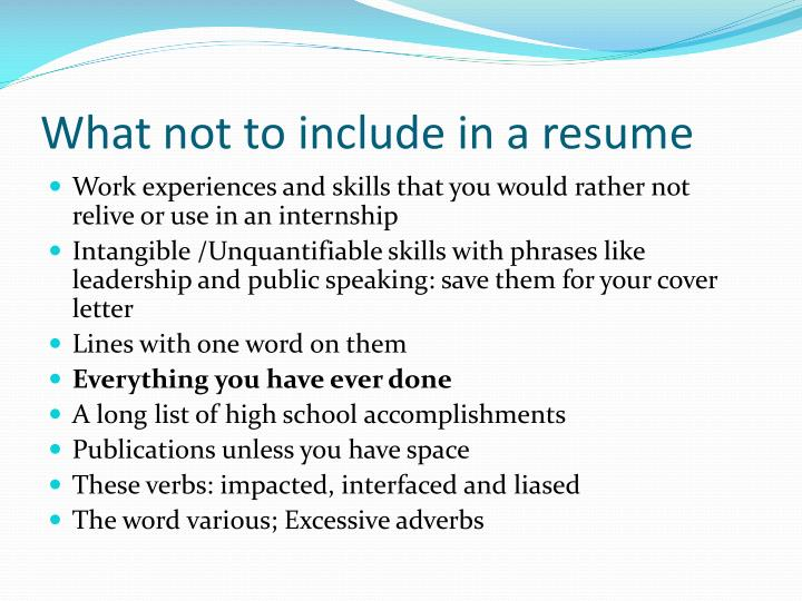 ppt resume preparation powerpoint presentation id 2611449