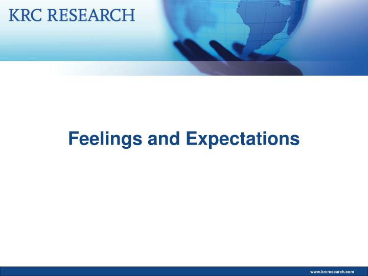 Feelings and Expectations