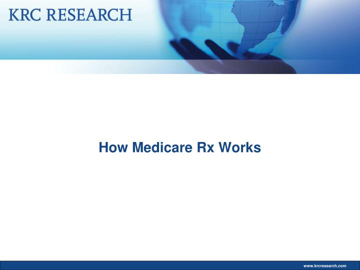 How Medicare Rx Works