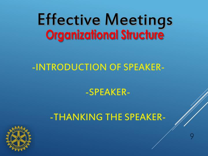 Effective Meetings