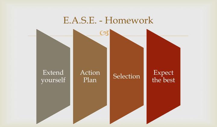 E.A.S.E. - Homework