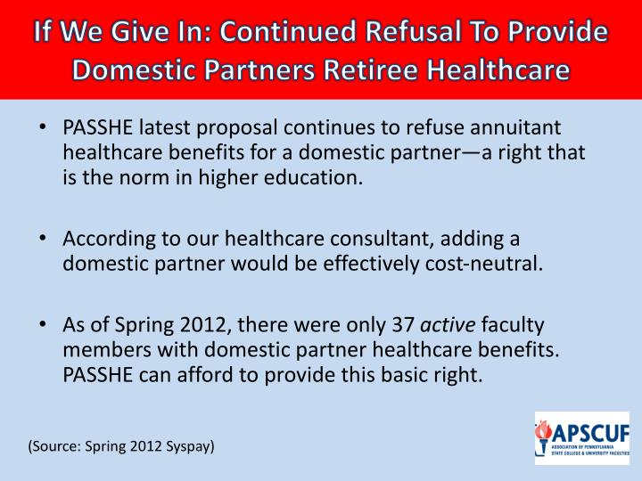 If We Give In: Continued Refusal To Provide Domestic Partners Retiree Healthcare