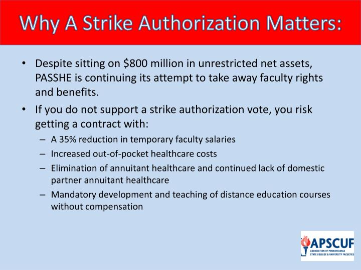 Why a strike authorization matters