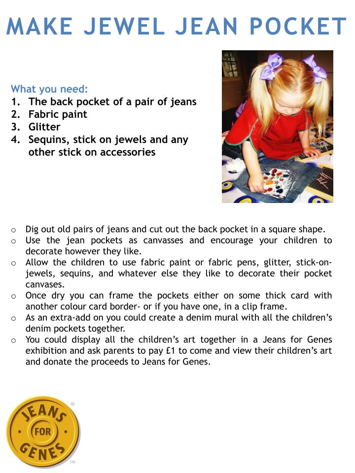 make jewel jean pocket