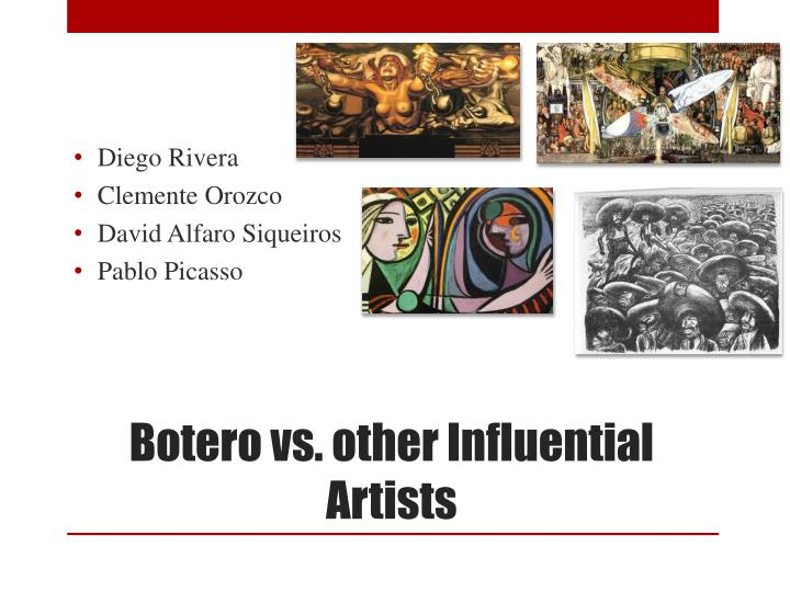 Botero vs other influential artists