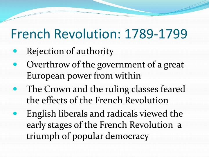 French Revolution: 1789-1799
