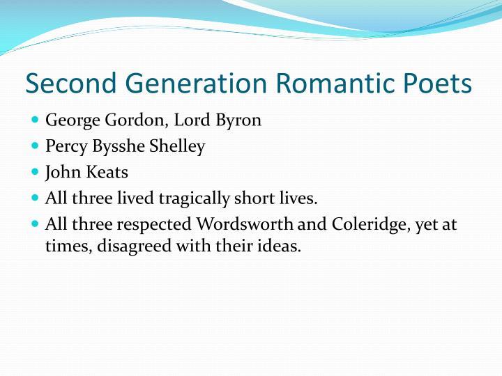 Second Generation Romantic Poets