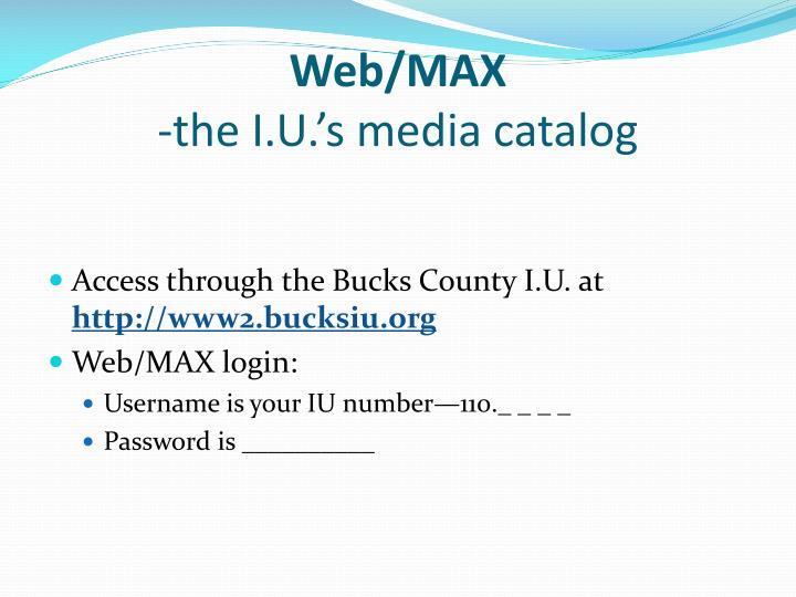 Web/MAX