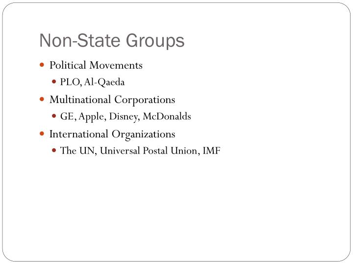Non-State Groups