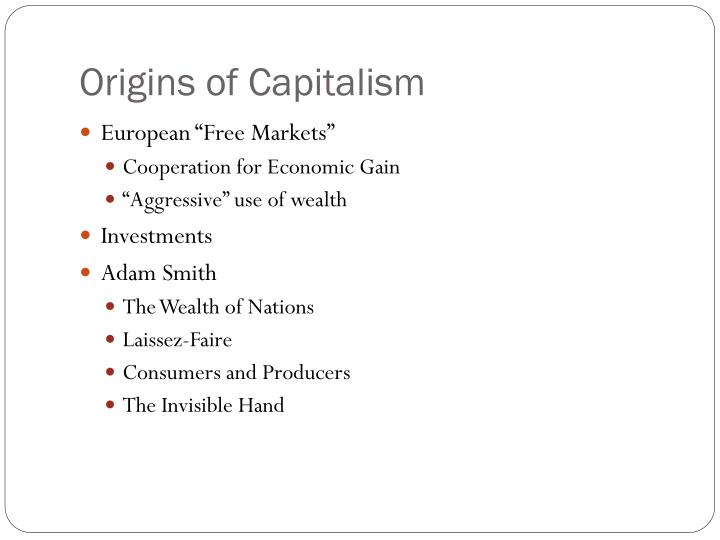 Origins of Capitalism