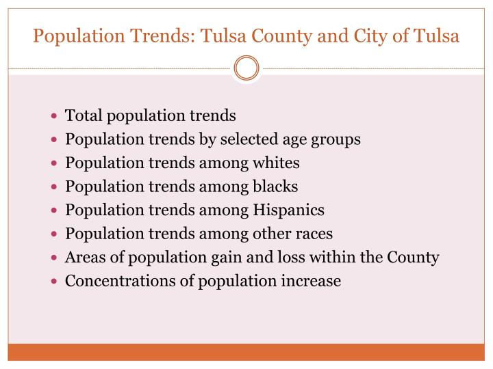 Population Trends: Tulsa County and City of Tulsa