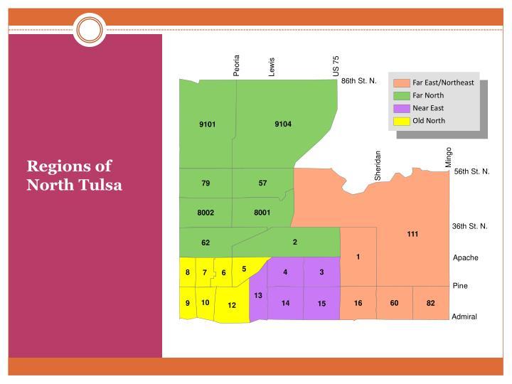 Regions of North Tulsa