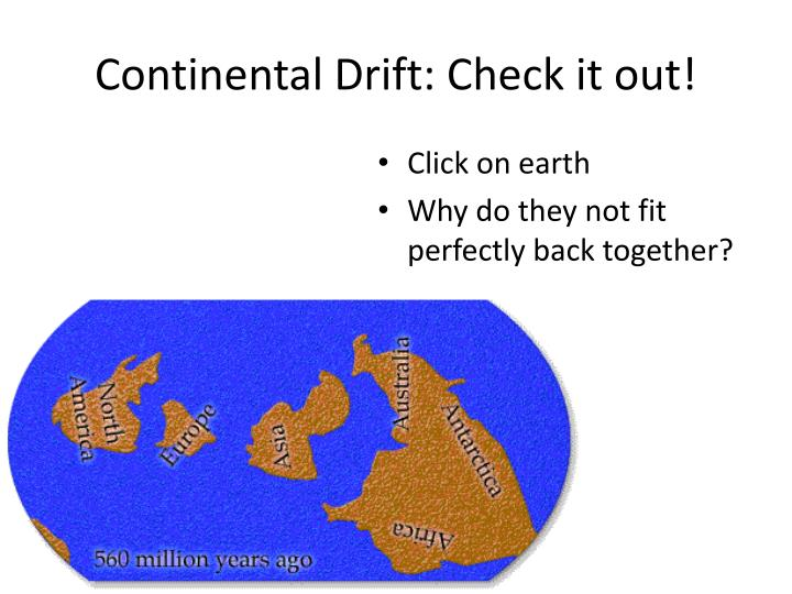 Continental Drift: Check it out!