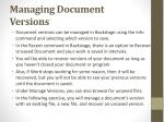 managing document versions