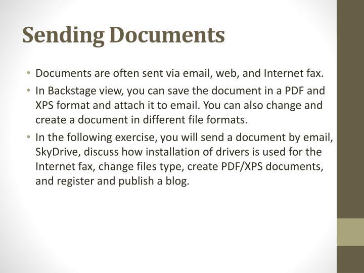 Sending Documents