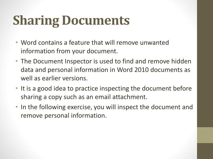 Sharing Documents