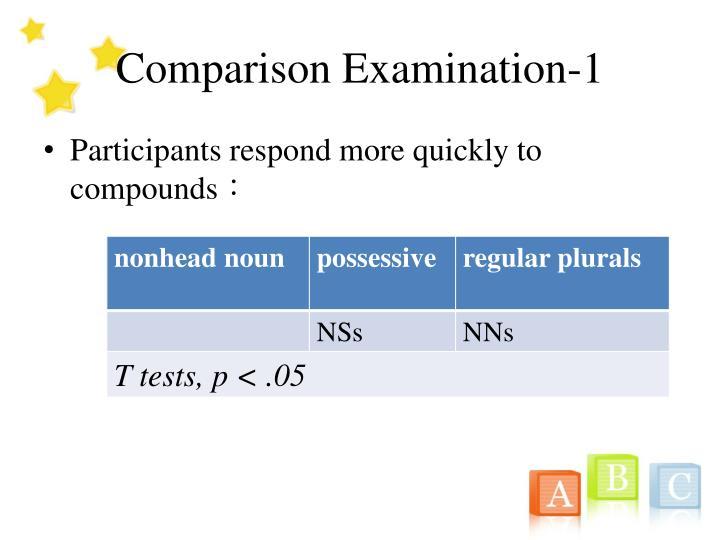 Comparison Examination-1