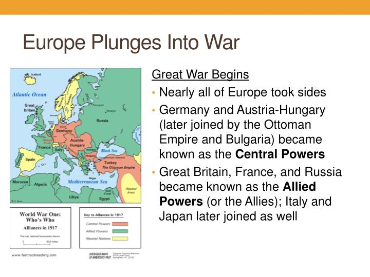 Europe Plunges Into War