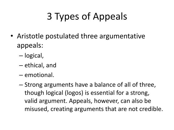 3 Types of Appeals