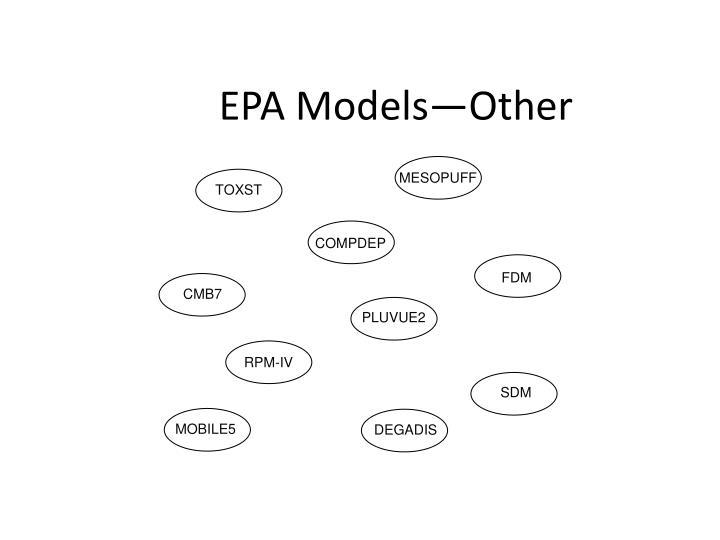 EPA Models—Other