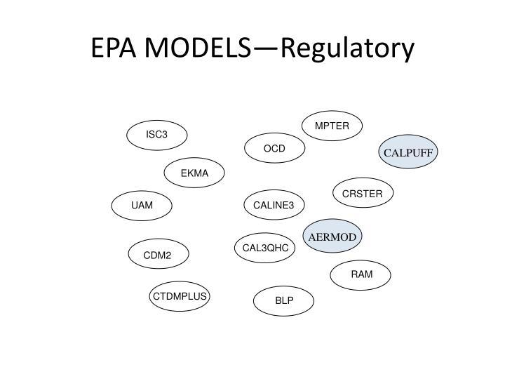 EPA MODELS—Regulatory